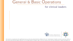 General & Basic Operations for Clinical Leaders (eLearning)