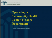 Operating a Health Center Finance Department