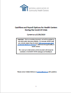 Cashflow and Payroll Options for Health Centers During the Covid-19 Crisis