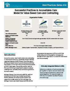 Successful Practices in Accountable Care: Model for Value Based Care and Contracting