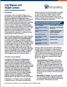 1332 Waivers and Health Centers: Update to Emerging Issues Brief 12