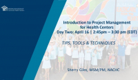Introduction to Project Management for Health Centers