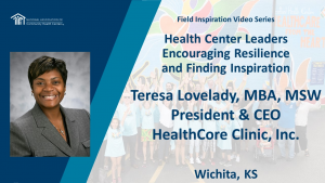 Health Center Leaders Encouraging Resilience and Finding Inspiration: Health Core Clinic, Inc.
