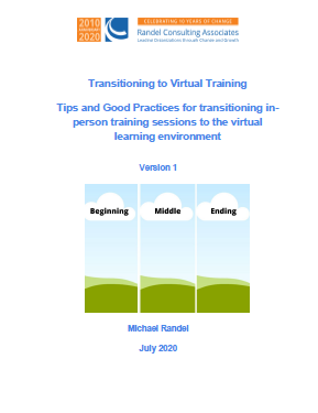 Transitioning to Virtual Training: Tips and Good Practices for Transitioning In-Person Training Sessions to the Virtual Learning Environment