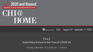State Policy Actions in the Time of COVID-19