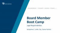 NACHC Board Member Boot Camp: Legal Considerations for Health Center Boards - **SEPARATE REGISTRATION IS REQUIRED**