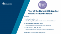 Year of the Nurse 2020: Leading with Care Into the Future