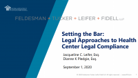 Setting the Bar: Legal Approaches to Health Center Legal Compliance