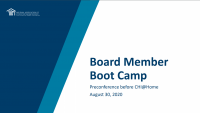 NACHC Board Member Boot Camp: Setting the Scene about Board Roles and CEO Oversight/Partnership - **SEPARATE REGISTRATION IS REQUIRED**