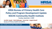 Update from HRSA's Bureau of Primary Health Care