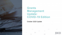 Grants Management Update:  COVID-19 Edition