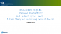 Innovative Schedule Changes to Enhance Patient Access by 33%!