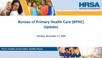 HGS4 Plenary Session #3: HRSA/Bureau of Primary Health Care Update and Conference Wrap-up