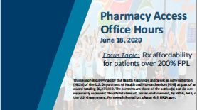 (6/18/2020): Rx Affordability for Patients over 200% FPL