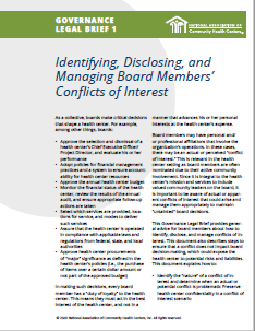 Identifying, Disclosing, and Managing Board Members' Conflicts of Interest (Governance Legal Brief 1)