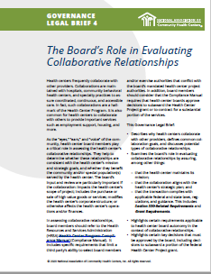 The Board's Role in Evaluating Collaborative Relationships (Governance Legal Brief 4)