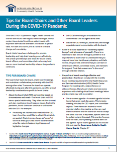 Tips for Board Chairs and Other Board Leaders During the COVID-19 Pandemic