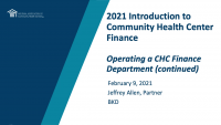 Operating a CHC Finance Department (continued) icon