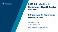 Introduction to Community Health Finance icon