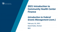 Introduction to Federal Grants Management (continued) icon
