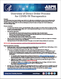 Overview of Direct Order Process for COVID-19 Therapeutics