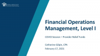 COVID Session: Provider Relief Funds