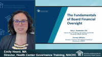 Board Member Boot Camp (Session 3): The Fundamentals of Board Financial Oversight - **Separate Registration Required**