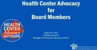 Health Center Advocacy for Board Members