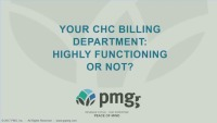 Your Health Center Billing Department: Highly Functioning or Not?