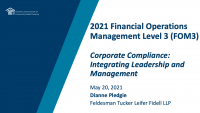 Corporate Compliance: Integrating Leadership and Management