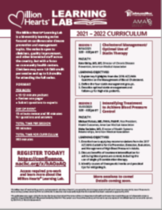 Million Hearts Learning Lab: 2021-2022 Curriculum