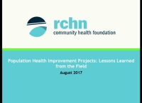 Population Health Improvement Projects: Lessons Learned From the Field