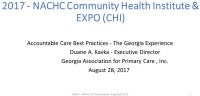Accountable Care Best Practices