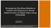 Strategizing Workflow Models to Collect and Respond to Social Determinants of Health Data Using PRAPARE