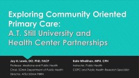 Exploring Community-Oriented Primary Care: A.T. Still University and Health Center Partnerships