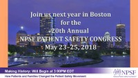 Keynote Two:  Making History: How Patients and Families Changed the Patient Safety Movement