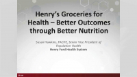 Henry's Groceries for Health – Better Outcomes through Better Nutrition