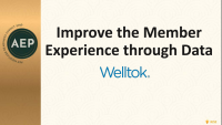 Improve the Member Experience Through Data icon
