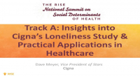 Track A: Insights into Cigna's Loneliness Study & Practical Applications in Healthcare