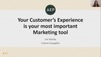 Keynote Presentation - Your Customers' Experience is Your Most Important Marketing Tool icon