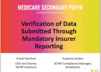 Verification of Data Submitted Through Mandatory Insurer Reporting
