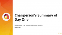 Chairperson's Summary of Day One