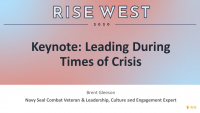 Keynote: Leading During Times of Crisis