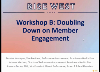 Workshop B: Doubling Down on Member Engagement