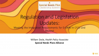 Regulation and Legislation Updates: Meeting the Integration Requirements for D-SNPs in CY21 and Beyond