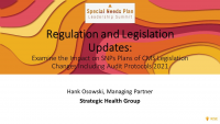 Chairperson Welcome Remarks & Regulation and Legislation Updates
