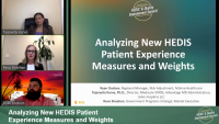 Analyzing New HEDIS Patient Experience Measures and Weights