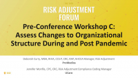 Workshop C: Assess Changes to Organizational Structure During and Post Pandemic