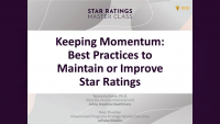 Keeping Momentum: Best Practices to Maintain or Improve Star Ratings
