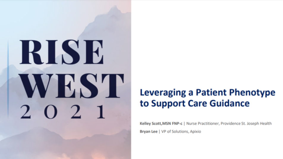 Track C (Virtual): Leveraging a Patient Phenotype to Support Care Guidance